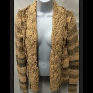 Cardigan FREE PEOPLE Cable Knit Shawl Striped Wool